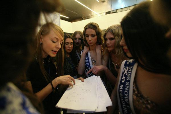 Участницы конкурса красоты Miss Snow Universe